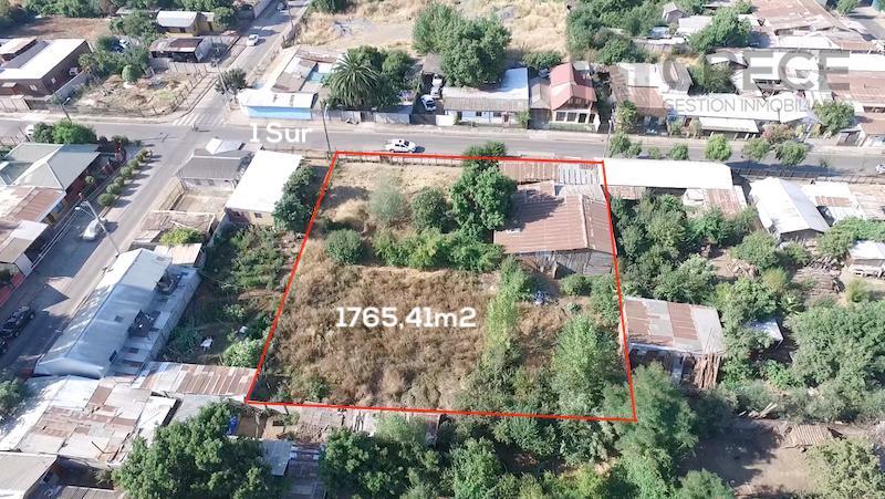 Sitio de 1765m2 a pasos de alameda y centro de Parral
