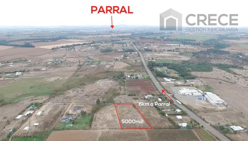 Parcela de agrado 5000m2, sector Ajial, a solo 6km de Parral, VII región, CHILE